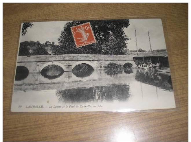 * LAMBALLE * Le Lavoir Et Le Pont De Calmette - Lamballe