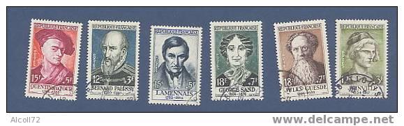 N° 1108 à 1113 :Célébrités Du XIIIè Au XIXè Siècles - France