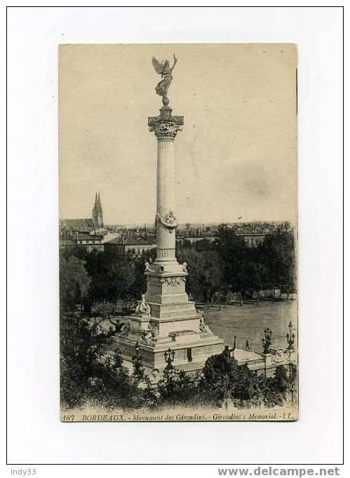 - BORDEAUX  -  MONUMENT DES GIRONDINS - Monuments