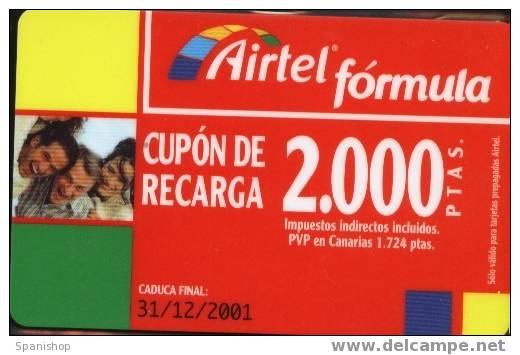 Airtel ACR-052/2 Friends 2000 Ptas 31/12/2001 Hard . Rasca Plata - Spain