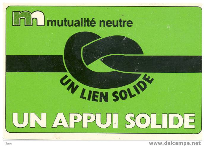 Calendrier - Version Carte à Jouer - Verviers, Publicité Mutualité Neutre. (452) - Kalenders