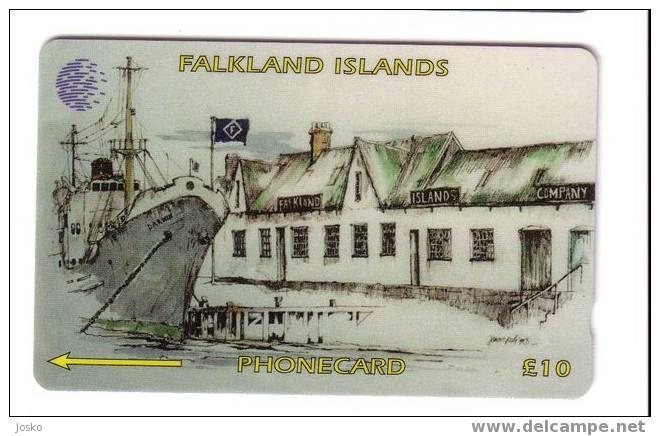 FALKLAND ISLANDS - Ship - Bateau - Sciff - Dock - Harbour - Falkland