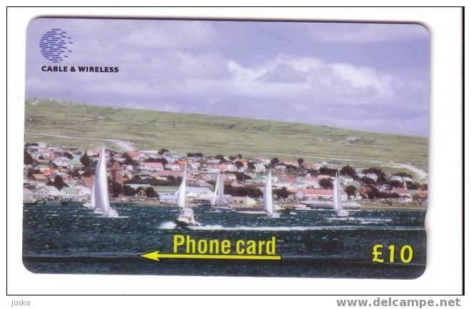 FALKLAND ISLANDS - Sailing - Voile - Yacht Race In Stanley Harbour - Falkland Islands
