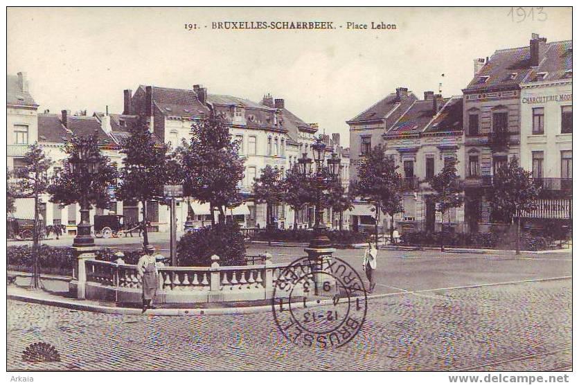 SCHAERBEEK = Place Lehon  N° 191 (1913) - Schaarbeek - Schaerbeek