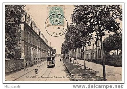 CPA 72 LE MANS - Perspective De L Avenue De Paris, Le Sacré Coeur - Le Mans