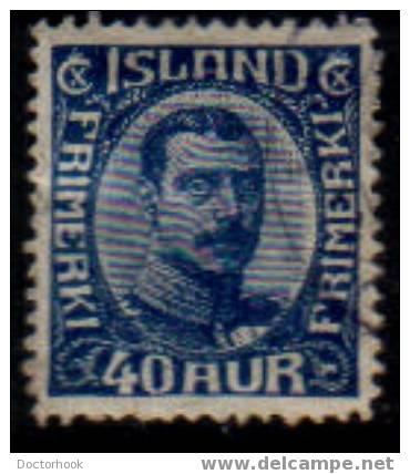 ICELAND   Scott   #  124   F-VF USED - Iceland