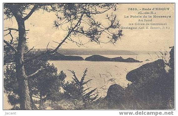 Rade D´Erquy - La Pointe De La Houssaye - Au Fond Les Cotes De Carroual - Erquy