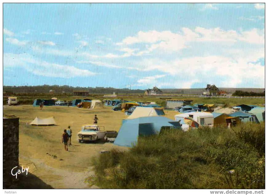 50.QUINEVILLE. Vue Sur Le Camping. Carte Dentelée. - France
