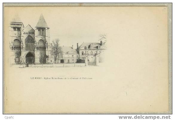 """LE MANS : Eglise Notre Dame De La Couture - Carte Précurseur Avant 1903 - Carte """"nuage"""" - Le Mans"""