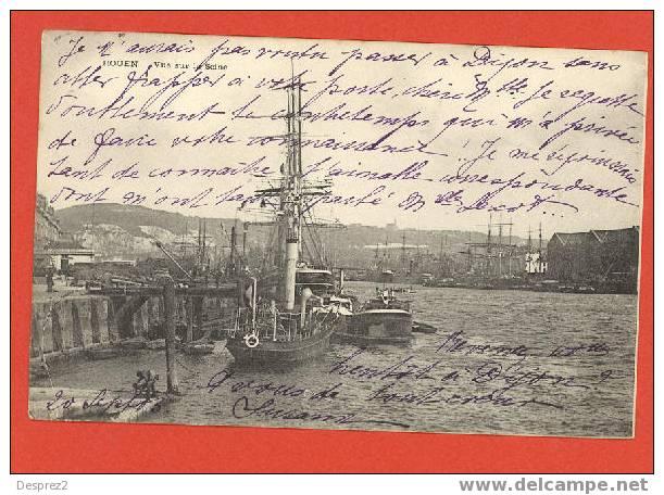 76 ROUEN Cpa Vue Sur La Seine - Rouen
