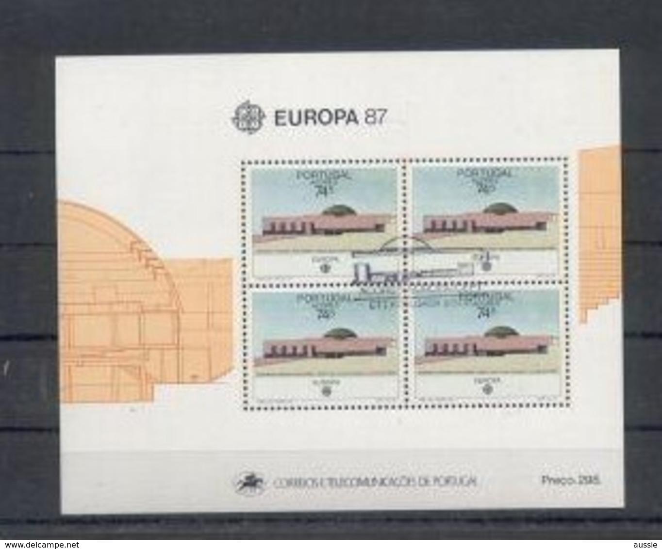 Cept 1987 Portugal  Azoren  Açores Bloc 8 (°) Oblitéré Used  Cote 11 Euro - 1987