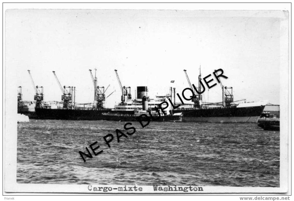 """0154 Cargo-Mixte """"WASHINGTON"""" - Compagnie Générale Transatlantique - Commercio"""