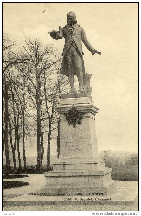 CHAUMONT 52 - STATUE Philippe LEBON Ingénieur éclairage Au Gaz - Monuments