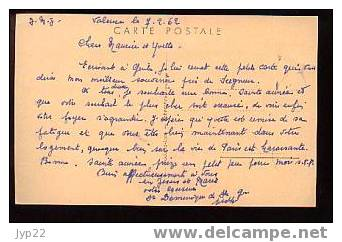 Jolie CP Joyeux Noël - Jésus Crèche Anges Moutons ... - écrite 7-2-1962 - Natale