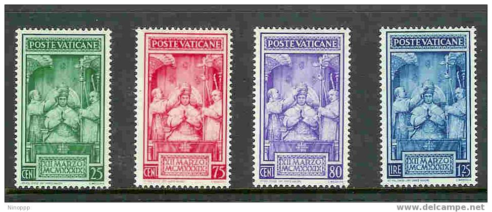Vatican City-1939 Coronation  MH Set - Vatican
