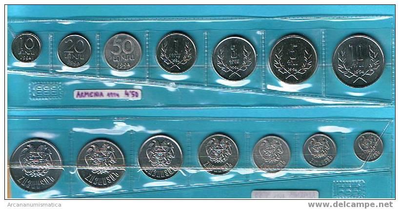 ARMENIA  Tira 7 MONEDAS S/C  UNC  DL-225 - Armenia