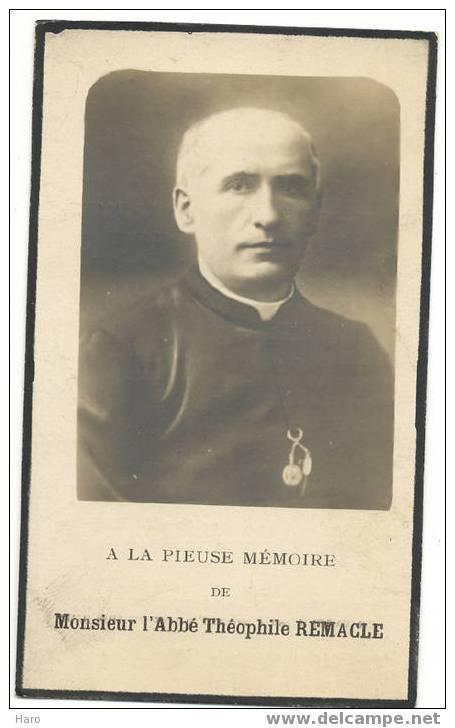 PETIT-THIER - Vielsalm - Faire-part De Décès De L´Abbé Remacle 1924 (481) - Mitteilung
