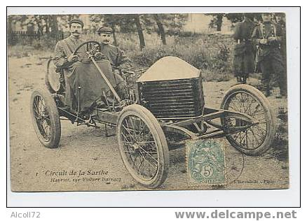 CIRCUIT De La SARTHE : Hanriot , Sur Voiture Darracq  - L'Hirondelle N° 1 - Non Classés