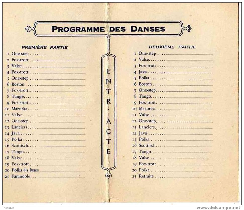 Carnet De Bal - Ville D' ETAMPES - BAL FERMIER - 1° Octobre 1932 - Vecchi Documenti
