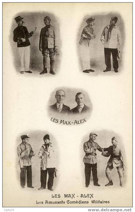 MILITARIA - ARTISTES Les MAX ALEX Comédiens - Entertainers