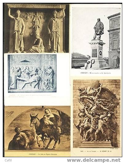 ARTE En ITALIA - Lote De 18 Postales Antiguas - Postales