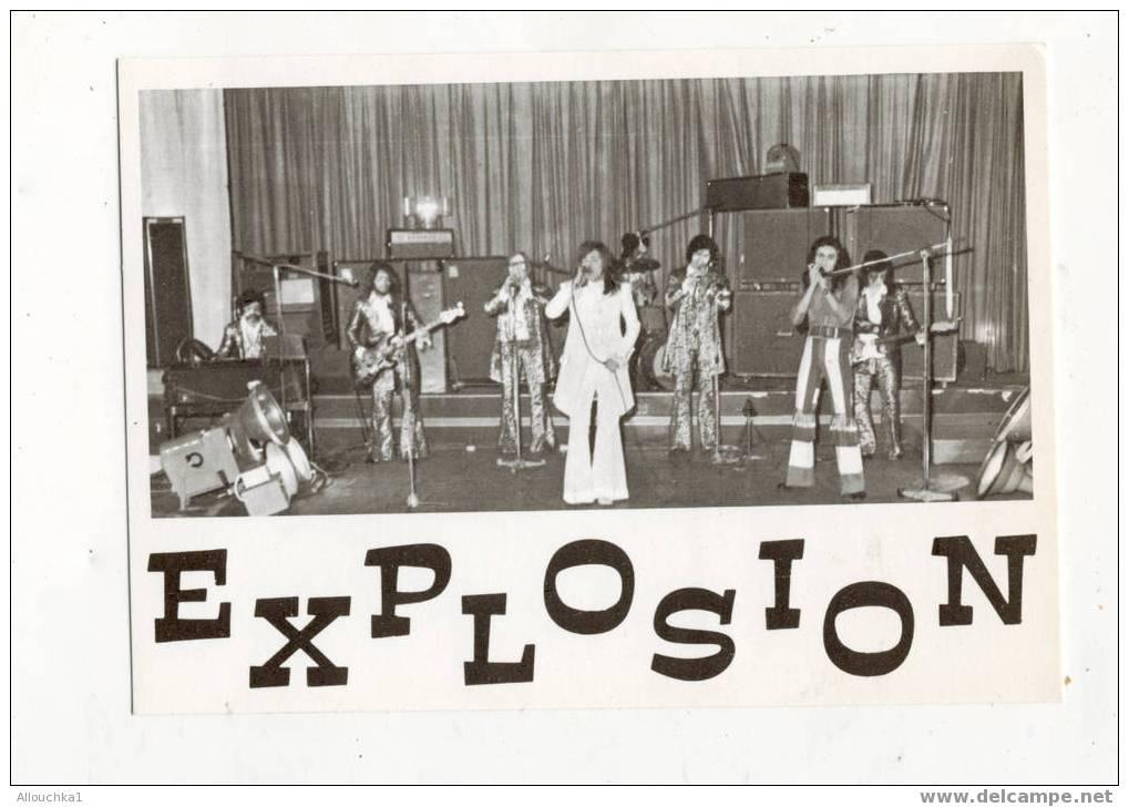 CARTE DU GROUPE  DE ROCK EXPLOSION ORIGINAIRES D'AIX EN PROVENCE - Musik & Instrumente