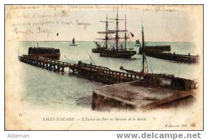 SAINT NAZAIRE.L'entrée Du Port Au Moment D La Marée - Saint Nazaire