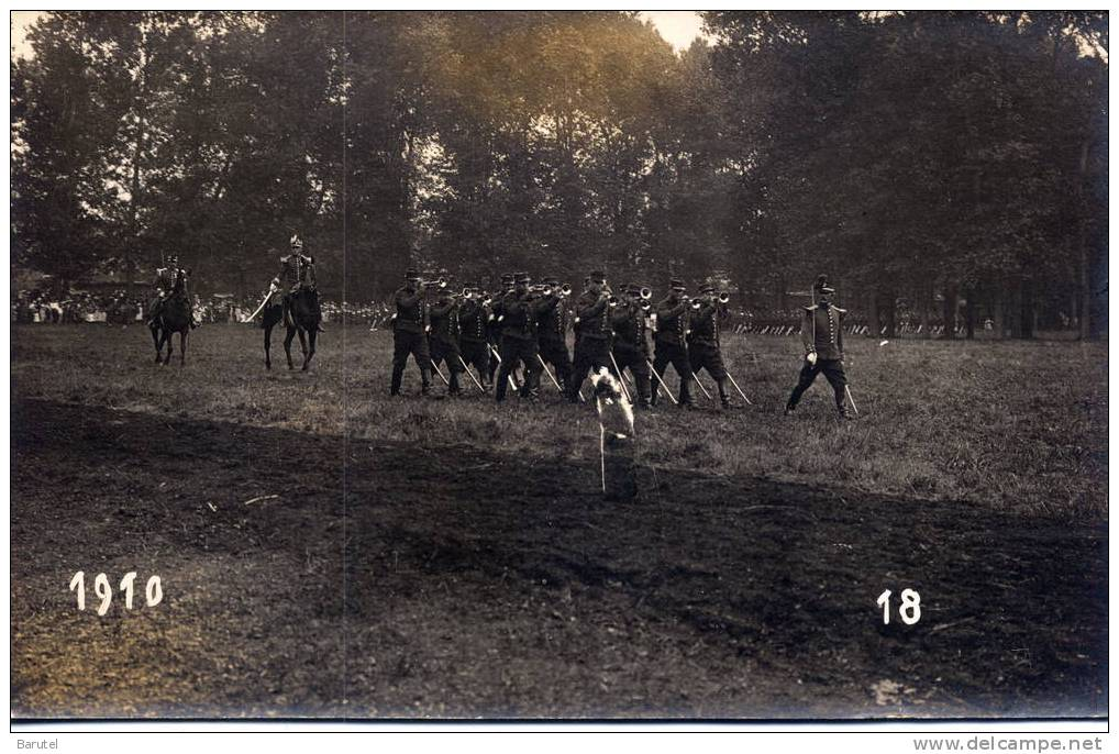 MANOEUVRES MILITAIRES - Carte Photo 1910 - Manovre