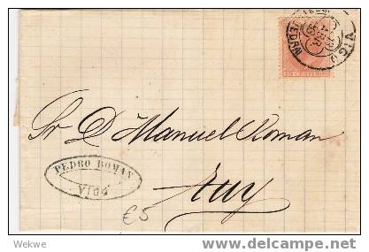 Ep067 / - SPANIEN - Alfonso XII – 1883 – Von Vigo - Briefe U. Dokumente