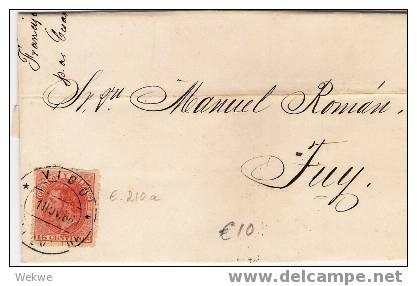 Ep068 / - SPANIEN - Vigo 1886 – Mit Edifil 210 A – Sehr Farbfrisch - Briefe U. Dokumente