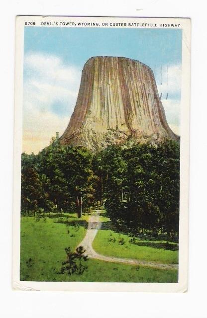 MATOE TEPEE Wyoming / DEVIL´S TOWER, ON CUSTER BATTLEFIELD HIGHWAY  ( Sur Le Thème Du DIABLE : DEVIL... ) - Non Classés