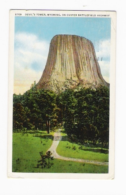 MATOE TEPEE Wyoming / DEVIL´S TOWER, ON CUSTER BATTLEFIELD HIGHWAY  ( Sur Le Thème Du DIABLE : DEVIL... ) - Etats-Unis