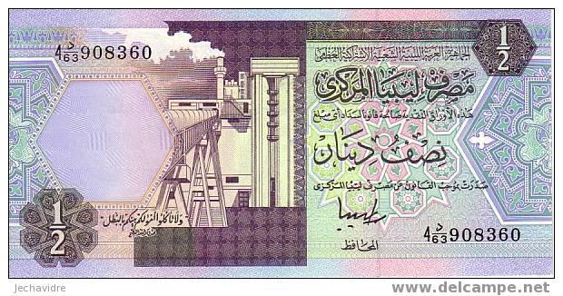 LIBYE   1/2  Dinar  Non Daté   Pick 58c     ***** BILLET  NEUF ***** - Libye