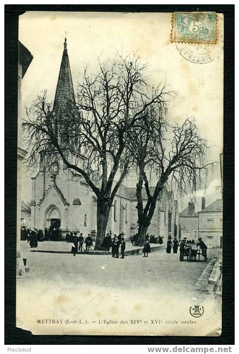 37 - METTRAY - L'Église  - ANIMÉE - Mettray