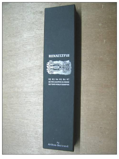 BOITE VIDE  PUBLICITAIRE POUR MONTRE RENAULT F1 92.93.94.95.96.97. SIX FOIS CHAMPION DU MONDE BY ARTHUS BERTRAND - Montres Publicitaires