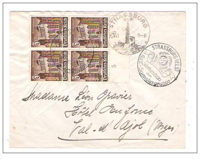 LETTRE DE STASBOURG .1941 - Marcophilie (Lettres)