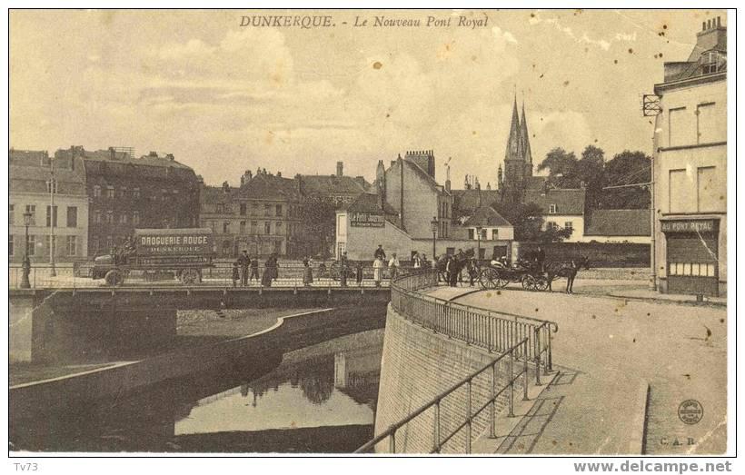 Cpb 254 - DUNKERQUE - Le Nouveau Pont Royal - Animée  (59 - Nord) - Dunkerque