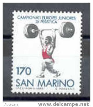 TIMBRE NOUVEAU SAINT-MARIN SAN MARINO  1980 CHAMPIONNAT DE L'EUROPE DE HALTEROPHILIE - Halterofilia
