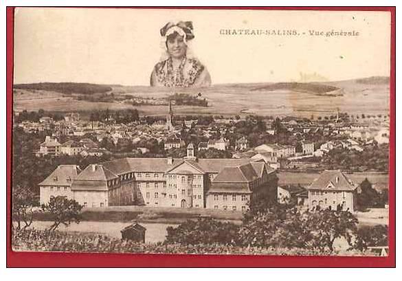 57 / CHATEAU SALINS / VUE GENERALE /1925 / - Chateau Salins