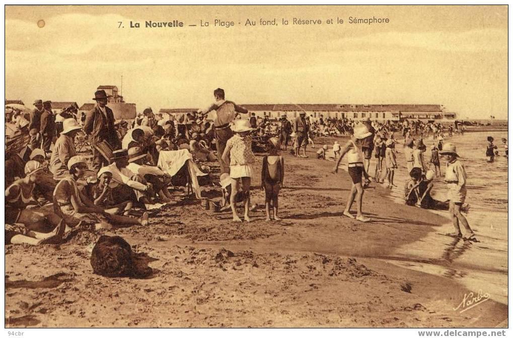 Cpa Tbe (11) LA NOUVELLE  - La Plage Et La Reserve Du Semaphorereserve - Port La Nouvelle