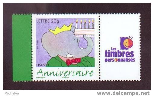 France 2006 - N° 3927A ** (logo T.P.) - Anniversaire - Babar - Personnalisés