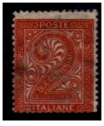 ITALY   Scott: # 25   F-VF USED - 1861-78 Vittorio Emanuele II