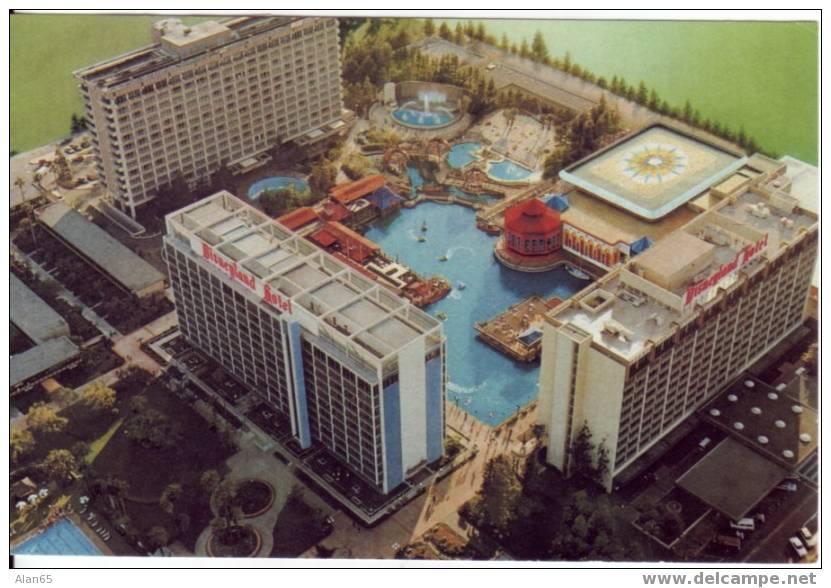Disneyland Hotel, Water Park Rides On C1980s Vintage Postcard - Disneyland