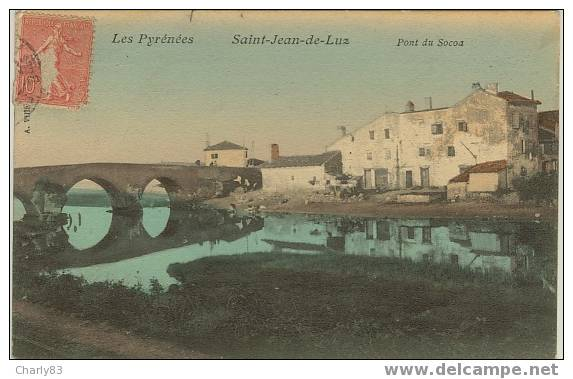 64 - SAINT-JEAN-DE-LUZ -LE  PONT  DE  SOCOA  N18 - Saint Jean De Luz