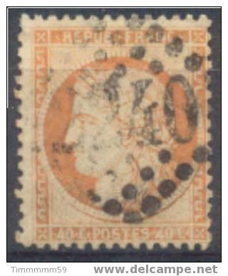 Lot N°5056  N°38 Jaune Orangeoblit GC 2240 MARSEILLE - 1870 Siege Of Paris