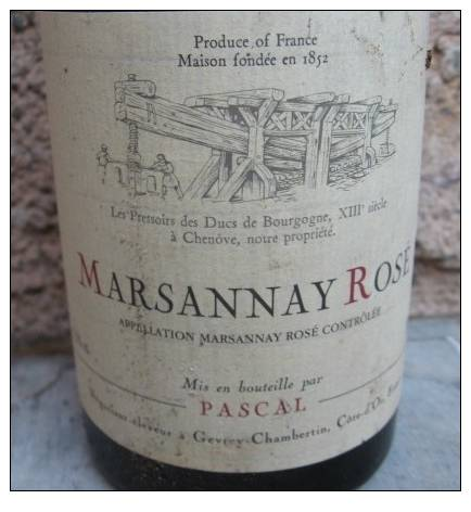 Marsannay Rosé 1993 Pascal Gevrey Chambertin - Wijn
