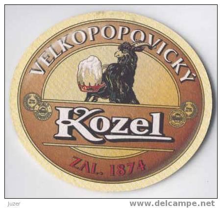 Czechia: Velkopopovicky KOZEL Beer Coaster (2) - Beer Mats