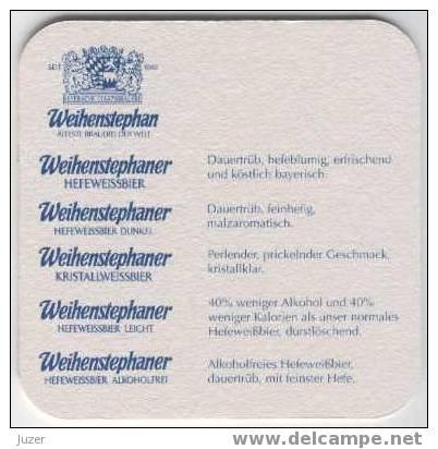 Germany: WEIHENSTEPHANER Beer Coaster - Sous-bocks