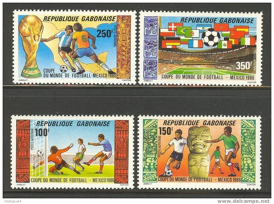 Gabon       Soccer       Set     SC# C278-81 MNH** - Gabon