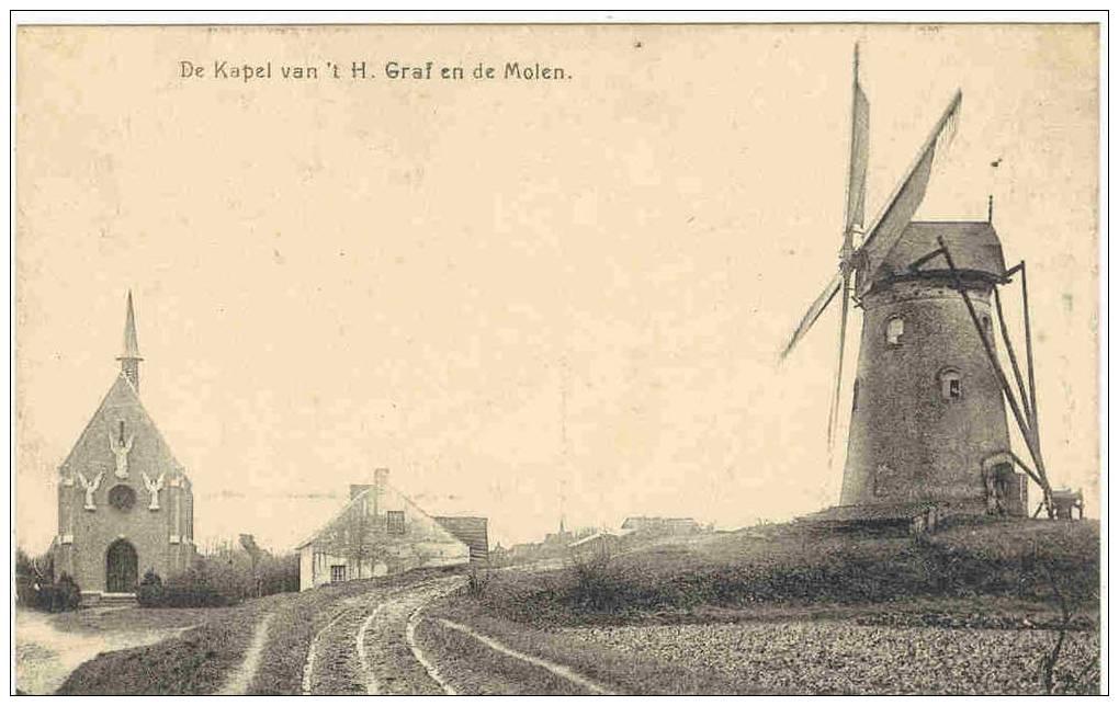 EECLOO - DE KAPEL VAN 'T H. GRAF EN DE MOLEN - Eeklo